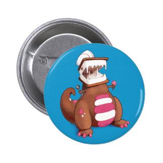 Chocolatey-Rex Runder Button 5,1 Cm