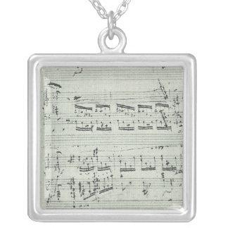 Chopin-Polonäse-Musik-Manuskript für Klavier Versilberte Kette