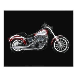 Chopper-Schweinheavyweight-Motorrad 11,4 X 14,2 Cm Flyer