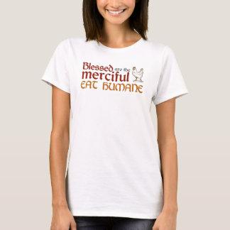 """Christlich """"essen Sie menschliches"""" Shirt (Fem)"""