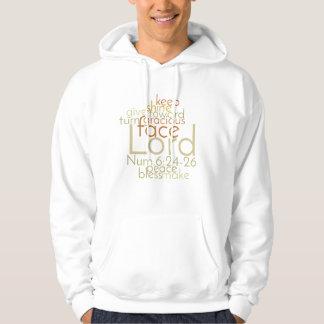 Christliche priesterliche Segen-Wort-Kunst Hoodie