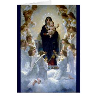 Christliche Religionswolken Engel madona Babys Karte