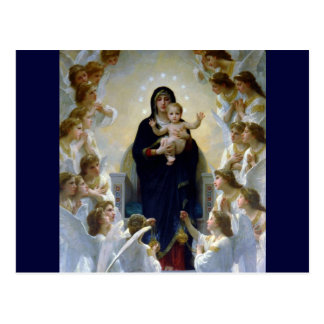 Christliche Religionswolken Engel madona Babys Postkarte