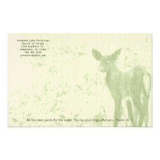 Christliche Rotwild-Hosen für das Briefpapier