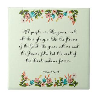 Christliche Zitat-Kunst - Jeremias-24:6 Keramikfliese