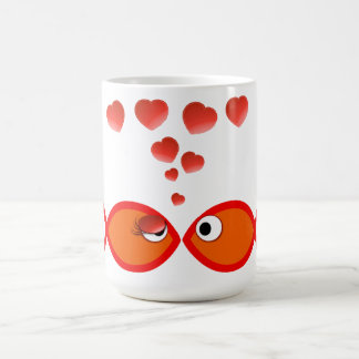Christlicher Valentine orange v2 Kaffeetasse