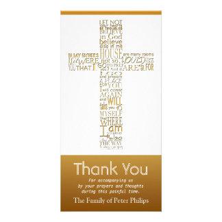 Christliches QuerBeileid johns 14 danken Ihnen 2 Karte