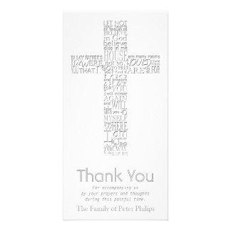 Christliches QuerBeileid johns 14 danken Ihnen Karte