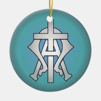 Christliches Symbol Rundes Keramik Ornament