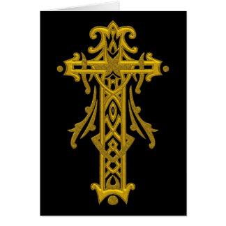 Christliches verziertes Kreuz 20 Mitteilungskarte
