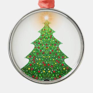 christmas-1081473 rundes silberfarbenes ornament