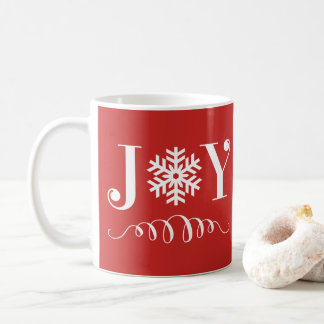 Christmas Holiday Joy Snowflake Mug Gift Tasse