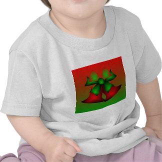 Christmas Red Bells Plain T-Shirt Shirts