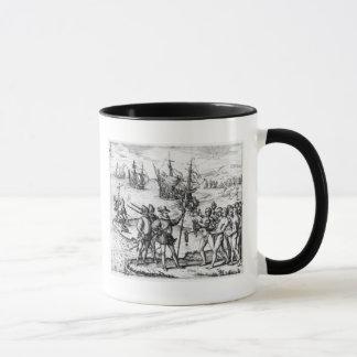 Christoph Kolumbus, der Geschenke empfängt Tasse