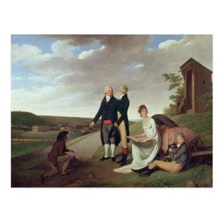 Christophe-Philippe Oberkampf und Familie Postkarte
