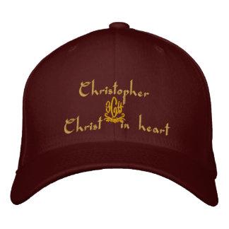 Christopher-Name mit englischer Bedeutung Bestickte Baseballkappen