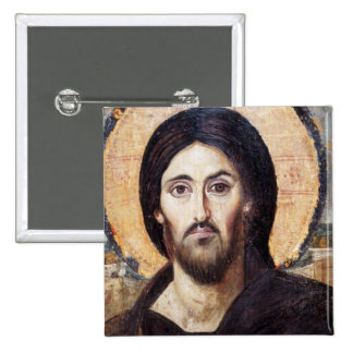 Christus als Machthaber von allen Quadratischer Button 5,1 Cm