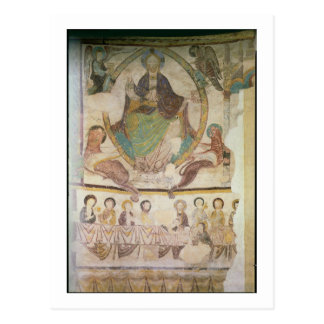 Christus in der Majestät mit vier evangelischen Postkarte