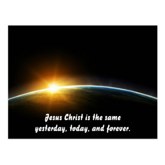 Christus ist immer der selbe postkarte