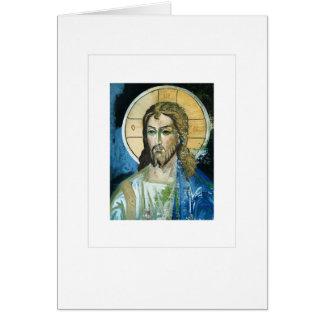 Christus, Wandmalerei Grußkarte