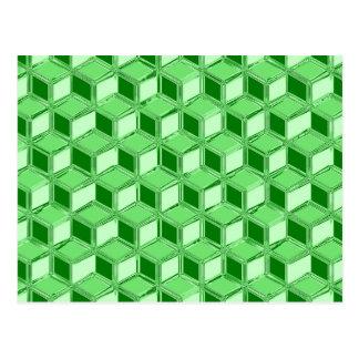 Chrom 3 d-Kästen - Smaragdgrün Postkarten