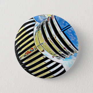 Chrom auf dem Chevy Runder Button 5,1 Cm