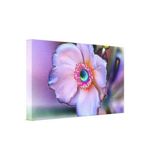 Chrom-Blume auf Leinwand Galerie Faltleinwand