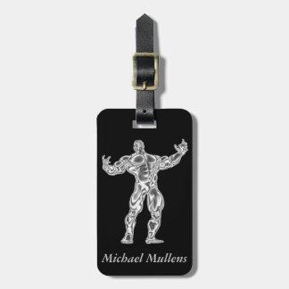 Chrom-Bodybuilder-Gepäckanhänger Adress Schild