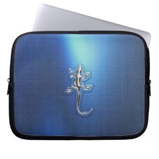 Chrom-Eidechsen-Reißverschluss-Hülse Laptop Schutzhülle