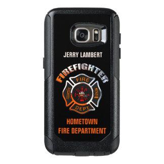 Chrom-Feuerwehrmann-Namen-Schablone OtterBox Samsung Galaxy S7 Hülle