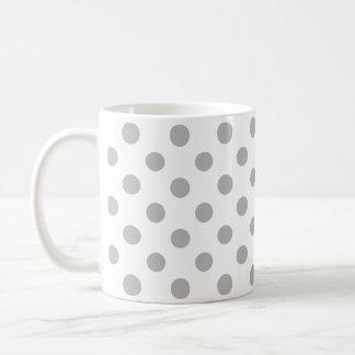 Chrom-graue Tupfen-Kreise Tasse