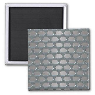 Chrom-Grill über rostfreiem Blick Quadratischer Magnet