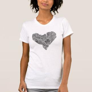 Chrom-Herz-T-Stück T-shirt