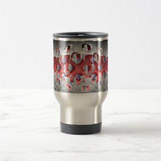 Chrom-Liebhaber Kaffee Tasse