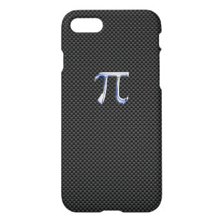 Chrom mag PU-Symbol auf Kohlenstoff-Faser iPhone 8/7 Hülle