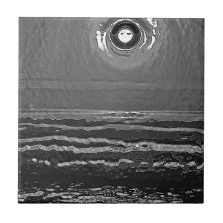 Chrom-Sonnenuntergang Kleine Quadratische Fliese
