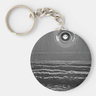 Chrom-Sonnenuntergang Standard Runder Schlüsselanhänger