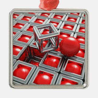 Chrombälle Silbernes Ornament