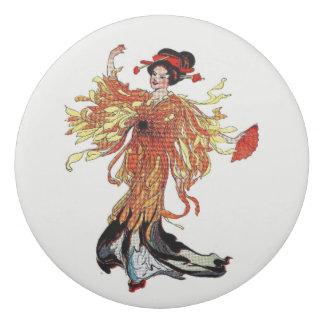Chrysantheme-Vintages niedliches Blumen-Mädchen Radiergummi 1