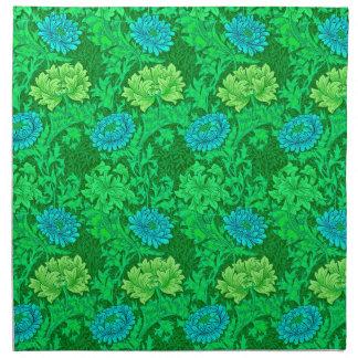 Chrysanthemen Williams Morris, Limones Grün u. Stoffserviette