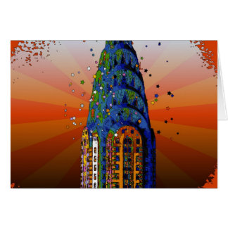 Chrysler-Gebäude #5 - psychedelische Art Karte