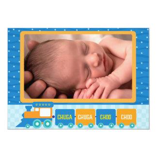 Chuga Chuga Foto-Geburts-Mitteilung 12,7 X 17,8 Cm Einladungskarte