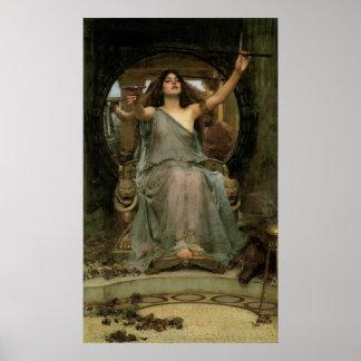 Circe, welches die Schale Ulysses durch JW Poster