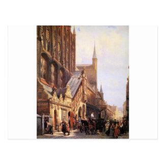 Cityhall in Lbeck durch Cornelis-Springer Postkarte