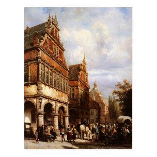Cityhall Paderborn durch Cornelis-Springer Postkarte