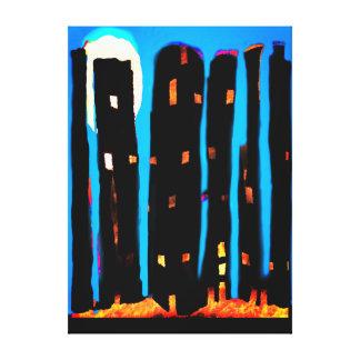 Cityscape abstrakt leinwanddruck