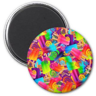 CKC Popsicle-Wirbel Lila-RUNDER MAGNET Runder Magnet 5,7 Cm