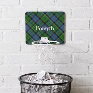 Clan Forsyth Forsythe Tartan fertigen Namen Mini Basketball Ring