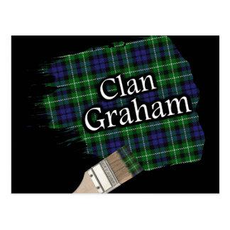 Clan-Graham schottischer Tartan-Pinsel Postkarte