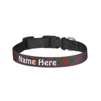 Clan Kidd Tartan fertigen den Namen des Haustieres Haustierhalsband